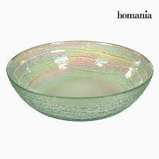 recycled glass bowl transpa Ø 18 cm pure crystal deco collection by homania
