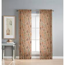 window elements sheer olina printed sheer 54 in w x 84 in l grommet