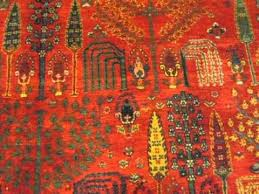 10 x 14 tree of life persian bidjar beautiful tribal rug in jewel tones