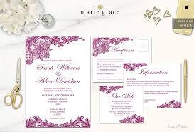 Wedding Invitations Templates Purple Wedding Invitation Templates Purple Lace Pepixel