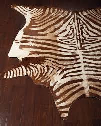valdis zebra print hairhide rug 5 x 7