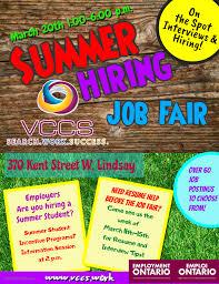 Summer Hiring Job Fair Vccs