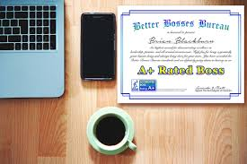 bosses day gift funny certificate for work certificate