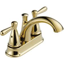 rless bayside polished brass 2 handle 4 in centerset bathroom faucet