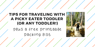 list for traveling tips for traveling with a toddler and a free printable