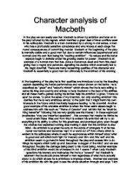 Macbeth Character Comparison Essay