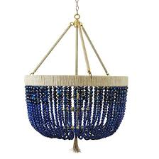 fascinating blue beaded chandelier ideas winsome with regard to within prepare 4