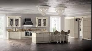 italian white kitchen and beautiful chandelier design