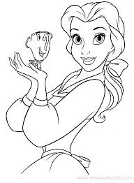 Beauty And The Beast Coloring Page Furture Mrs Disney Princess