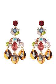 image of leslie danzis stone chandelier earrings