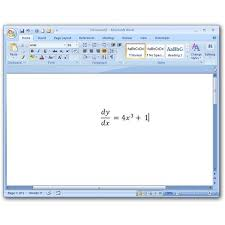 how to insert mathematical equations and symbols in ms word 2007