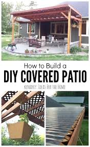 diy patio cover how to build a covered patio using lattice and diy patio cover projects