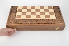 Handmade Wooden Board Games MADEHEART Unusual handmade wooden chessboard wood craft chess 9