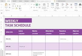 Weekly Task Schedule Weekly Task List Maker Template For Microsoft Excel