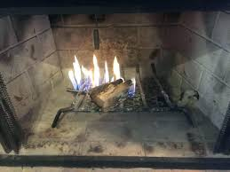 fireplace gas log lighter furnished installed natural log lighter fireplace residence blue flame for wood burning