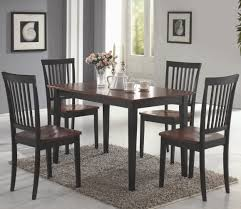 dark wood dining chairs. Coaster Oakdale Dark Cherry 5PC Dining Set Wood Chairs C