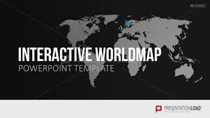 World Map Power Point Interactive World Map For Powerpoint Presentationload