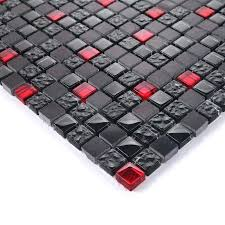 red glass mosaic tile inside wall decorative tiles red mix black square mosaic tile stone crystal red glass mosaic tile