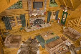 Log Cabin Living Room Concept Cool Decorating Ideas