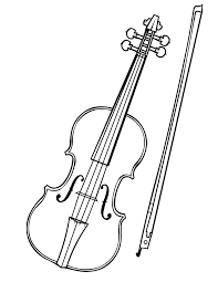 Small Picture Violin And Bow Coloring Page For Coloring Pages esonme