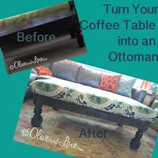 how to turn a coffee table into an ottoman ikea turned