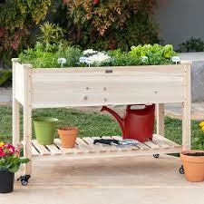 x 32 in wood raised garden bed