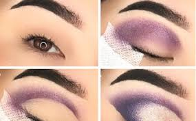 intense purple cat eye makeup effect