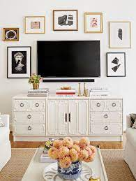 Modern tv unit design #16: 9 Decorating Ideas That Make White Walls Anything But Boring Bedroom Tv Wall Living Room Tv Wall Decor Bedroom
