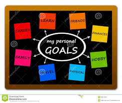personal goals stock image image 28972951 personal goals