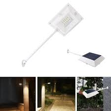 Pole Mounted Solar Light Waterproof 10 Led Outdoor Solar Powered Pir Motion Sensor Security Wall Light Mounting Pole Fit Home