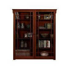 bookshelf glass doors