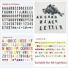 led night lamp letters number emoji for a6 cinema lightbox diy baby gift card