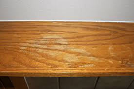 how to remove water stains from wood veneer furniture