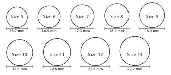 Big Ring Size Chart Big Anchor Ring Aesir Design