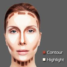tip to contour and highlight face with makeup