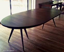 Custom Made Solid Walnut Tripod Oval Expanding Dining Table - Walnut dining room furniture