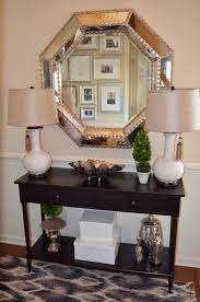 home entrance table. Foyer Decor With Entryway Console Table And Large Silver Mirror Including Great Living Room Inspiration Home Entrance