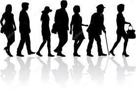 People Walking Conceptual Illustration Stock Vector Pablonis