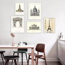 famous architectural scenery oil painting printed on canvas oil building painting wall art picture office home on wall art for office building with famous architectural scenery oil painting printed on canvas oil