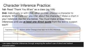 Making Character Inferences Ppt Download