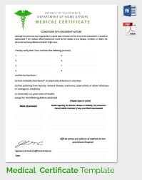 Fake Doctors Note South Africa Medical Certificate From Doctor Format For Medical
