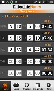 timecard with lunch breaks time card calculator timeclock android apps on google play