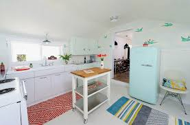 wallpaper is a perfect choice for the retro kitchen design sarah phipps design