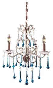 elk 4011 3aq once hanging rust finish small aqua crystal chandelier 3 candles loading zoom