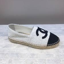 chanel espadrilles. chanel white fabric espadrilles 2017; 2017 chanel -
