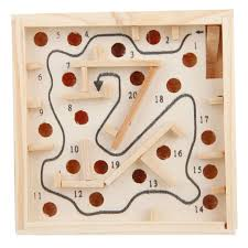 Wooden Maze Games Children Labyrinth Maze Game Puzzle Toy Wooden Tmart 61