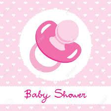 Pink Pacifier Design For Girl Baby Shower Celebration Invitation