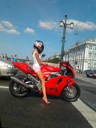 Mystery Motorcycle Girl Emma - BRB Going to Russia Meme - PandaWhale via Relatably.com