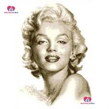 Free Marilyn Monroe Embroidery Designs Diy Beads Embroidery Marilyn Monroe Beadwork Home Decor Crafts Needlework Accessories Gifts Pearl Embroidery Partial Embroidery