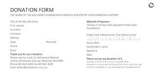 Printable Donation Form Template Non Profit Donation Form Template Gotostudy Info
